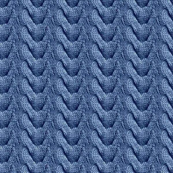 knit blå