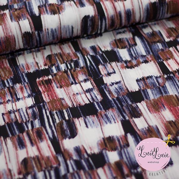 fb0f4223 Fastvævet polyester med smukt mønster -