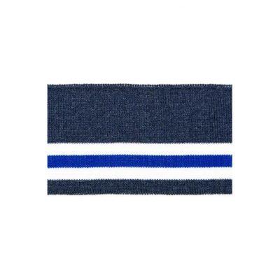 Rib, meleret navy med blå stribe – 70 x 110 mm