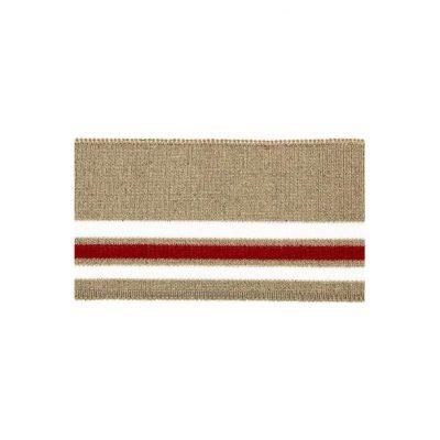 Rib, beige med rød stribe – 70 x 110 mm