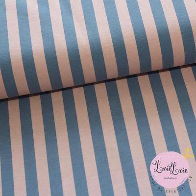 Elvelyckan Design : Vertical i dusty pink/blue : bomuldsjersey