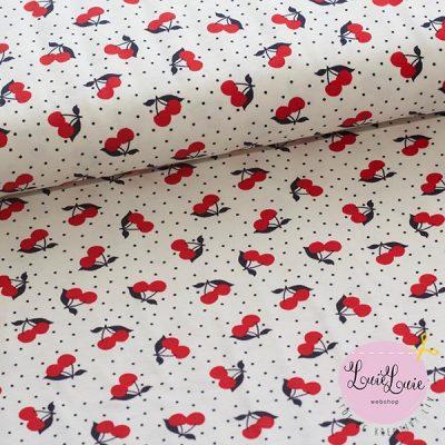 Bomuldsjersey med kirsebær