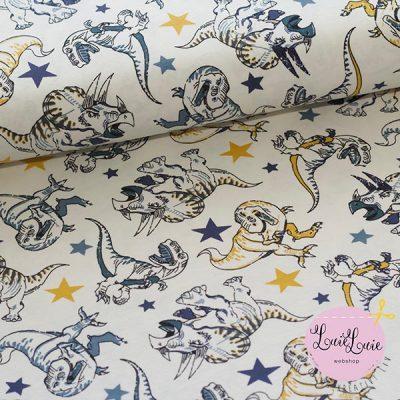 Bomuldsjersey med dinosaur
