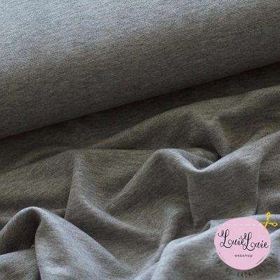 Viskose-rib i lys meleret grå