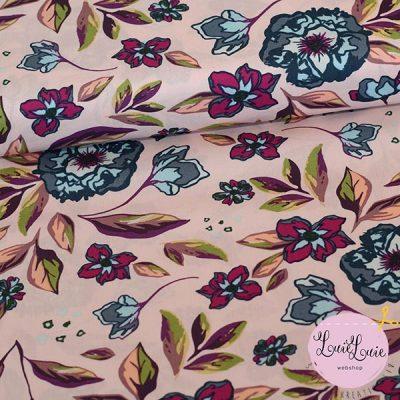 Art Gallery Fabrics : Ablush Enchanted Flora Yardage : fast bomuld