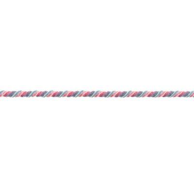 Snoet elastik i støvet blå-rosa