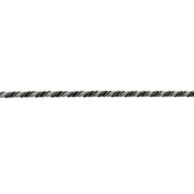 Snoet elastik i støvet sort/grå