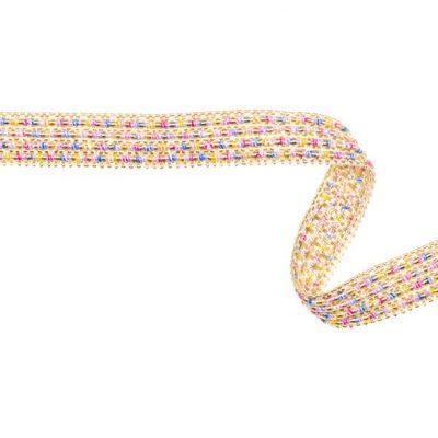 bånd med glitter i guld, 10 mm