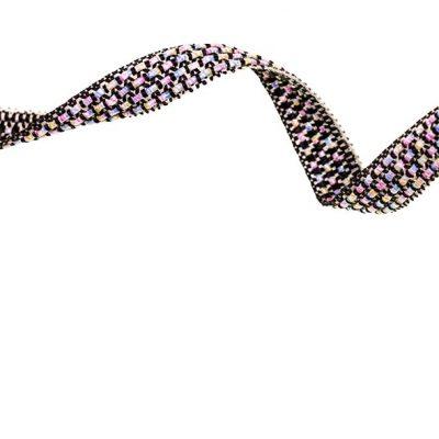 bånd med glitter i sort, 10 mm