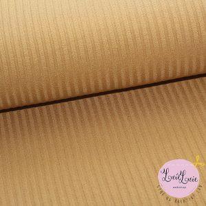 Viscose-strik med riller i gylden beige