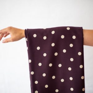 Mind the MAKER : viskose stretch : Dots Burgundy