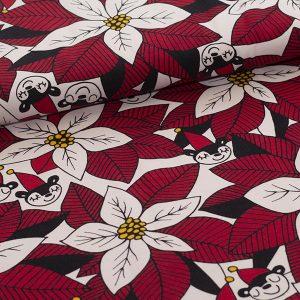 Paapii : Poinsettia organic jersey : red