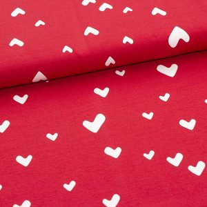 Paapii : Hearts organic jersey : red