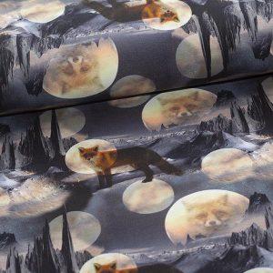 Bomuldsjersey med ræve
