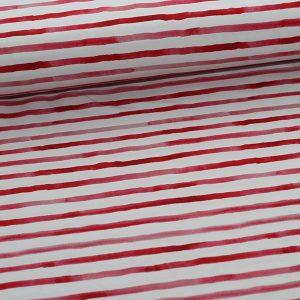 Bomuldsjersey med røde striber