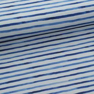Bomuldsjersey med blå striber