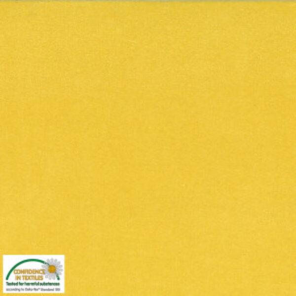 Bomuldsvelour i gul fv. 015