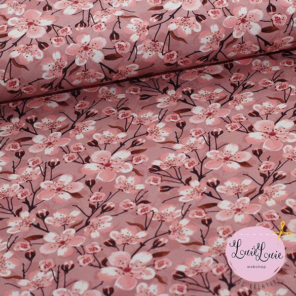 Bomuldsjersey med kirsebærblomster