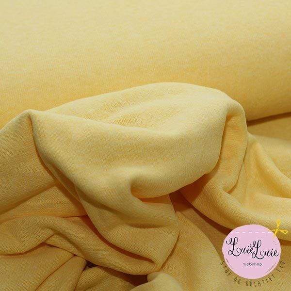 Jersey-strik i sart gul